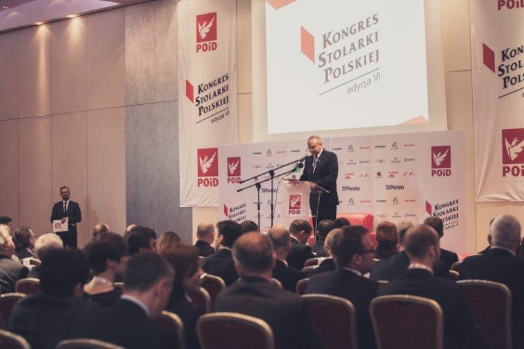 VI Kongres Stolarki Polskiej: wystąpienie Janusza Komurkiewicza, Prezesa Zarządu Związku POiD