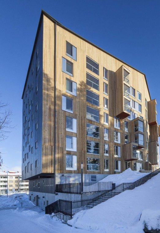 Puukuokka - najwyższy fiński apartamentowiec wybudowany z drewna