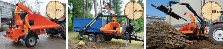 Modele Skorpion 350 RBP i Skorpion 500 RB są wyposażone w wydajny system załadunku drewna w formie dwóch transporterów gąsienicowych.