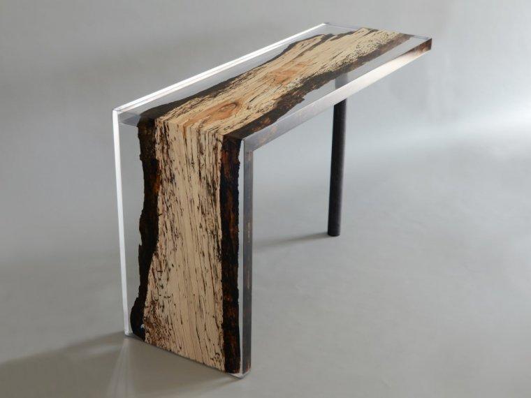 Biurko z kolekcji Fungi, drewno bukowe
