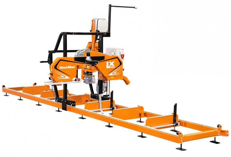 Trak LX100 umożliwia przecieranie kłód o maksymalnej średnicy 70 cm. Długość cięcia jest nieograniczona i zależy od ilości zamontowanych segmentów łoża.