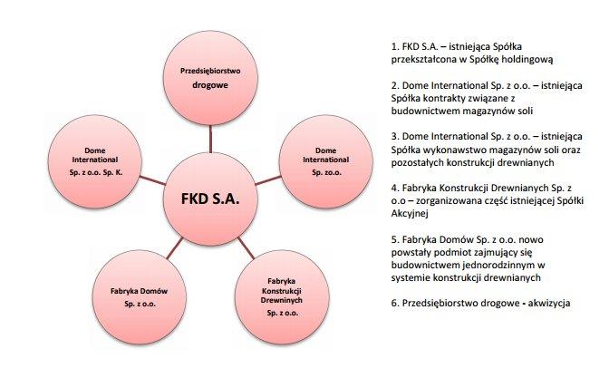 Planowana docelowa struktura grupy kapitałowej
