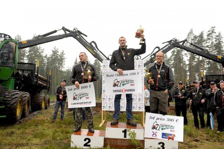 Zwycięzcy Mistrzostw Świata Operatorów Forwarderów 2017