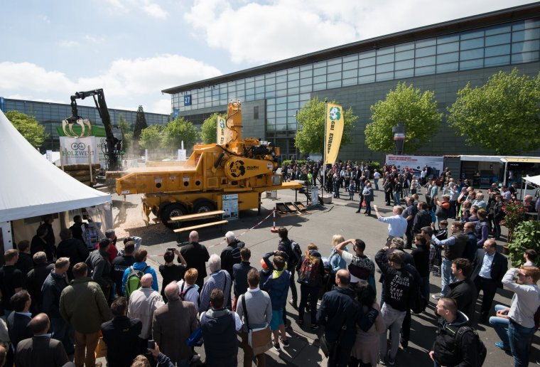 LIGNA - World Trade Fair for Machines, Systems and Tools for Woodworking and Processing. Kuratorium für Waldarbeit undForsttechnik e.V. , Open-air site (FG), Forest Demonstration Site, at the hermes tower, Stand M52