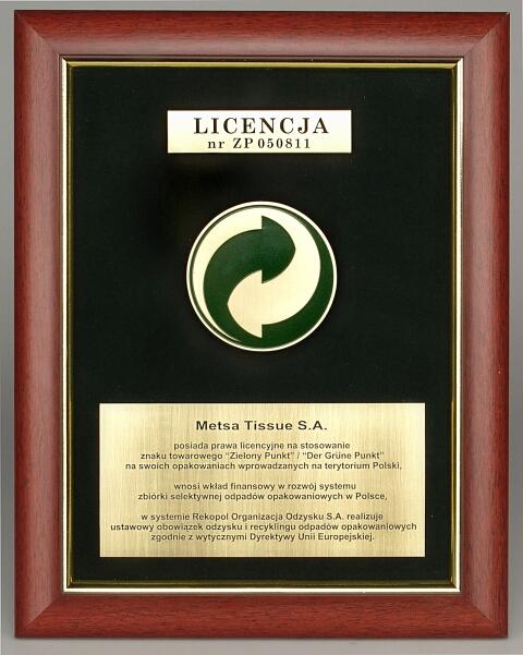 <center>Licencja Metsa Tissue</center>