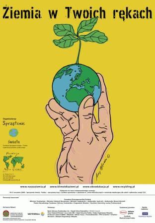 Plakat zapowiadający akcję Sprzątanie świata - Polska 2008
