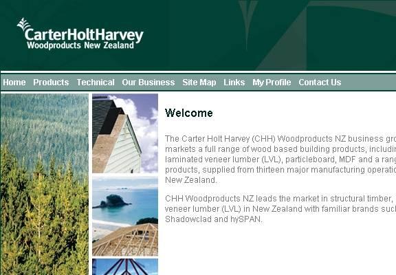 Carter Holt Harvey to jedno z nowozelandzkich przedsiębiorstw planujących zamknięcie części swoich zakładów.