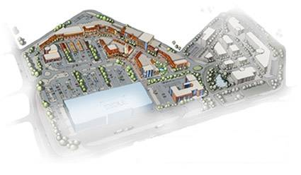 Plan miasteczka handlowego w Poznaniu