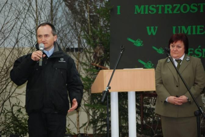 Rozpoczecie Zawodow  - Dyrekor ZSL A.Czyzyk, przedstawiciel sponsora głownego HUSQVARNA J.Banaszczyk