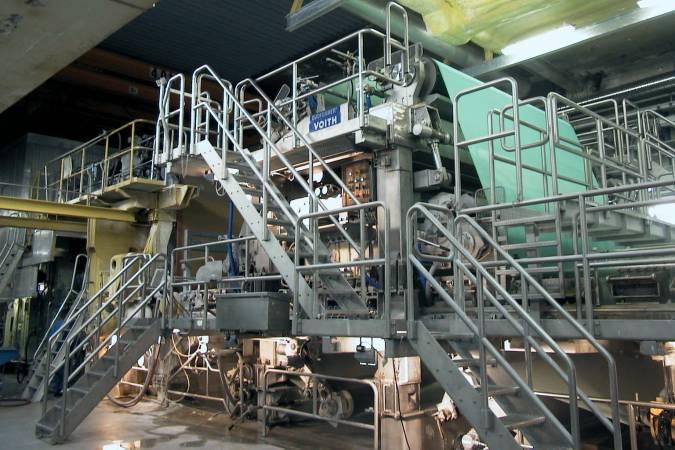 Maszyna papiernicza w zakładzie w Munkedals