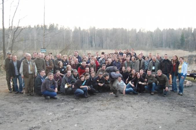 Uczestnicy II Ogólnopolskiej Konferencji Studentów Leśnictwa - Białowieża 2009