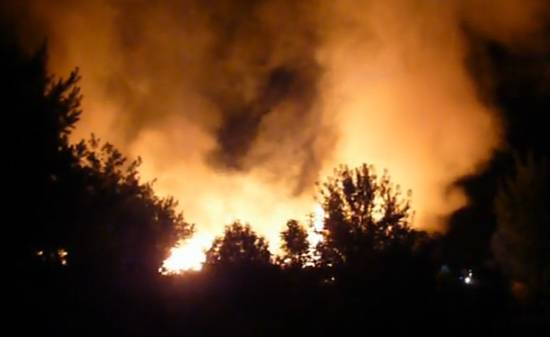 Pożar w fabryce mebli Formaplan
