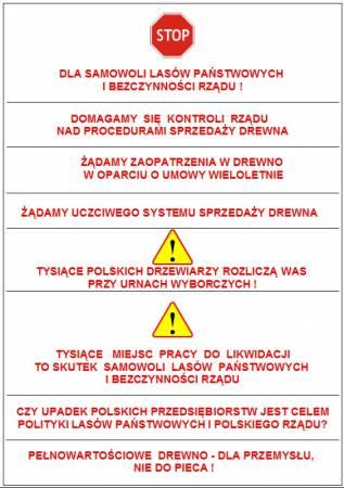 Propozycje haseł na transparenty