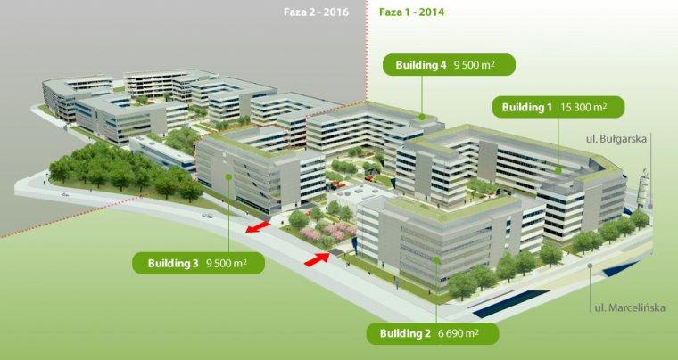 Wizualizacja Business Garden Poznań