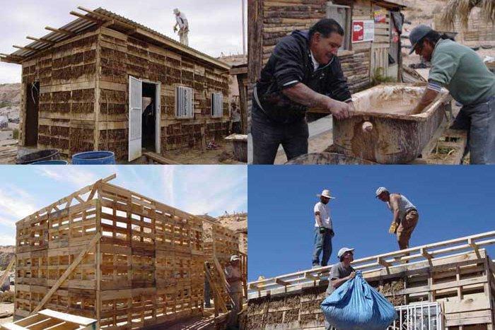 Budowa domu z palet w Meksyku