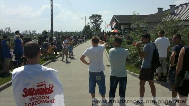 Protest pracowników Steinpol Central Services w Witnicy