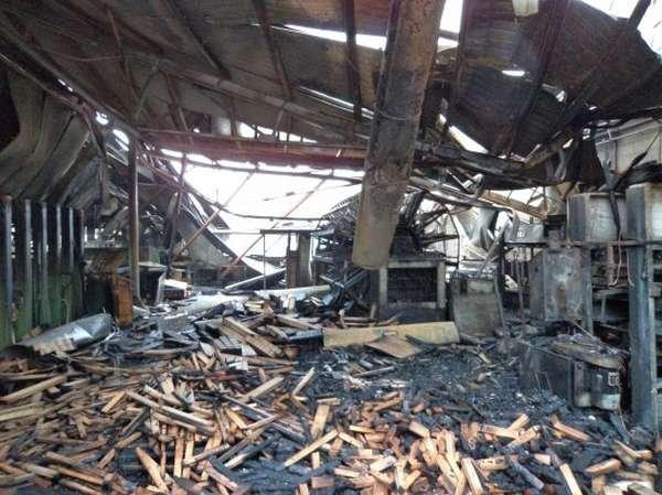 Pożar w zakładzie produkcyjnym Hjord Knudsen