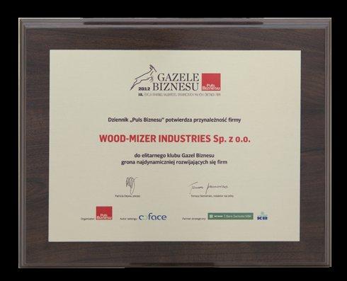 Wood-Mizer Industries jedną z najbardziej dynamicznych firm 2012 roku.