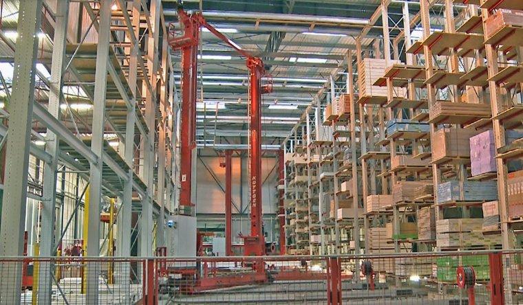 Automatyczny magazyn na materiały budowlane i drewniane