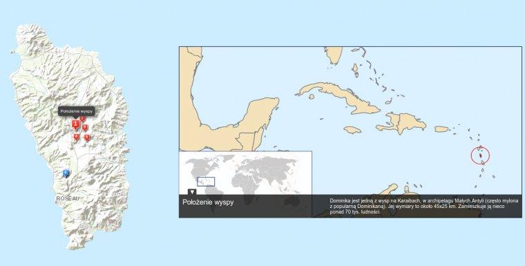 Dominika to niewielkie państwo-wyspa na Karaibach, w archipelagu Małych Antyli - ok. 8,5 tys km od Polski