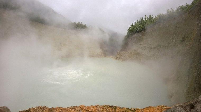 Wrzące jezioro Boiling Lake