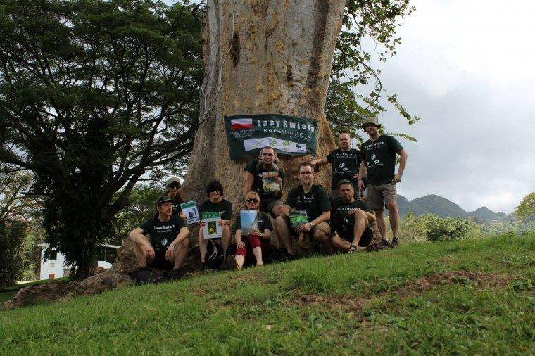 Uczestnicy wyprawy na Dominikę