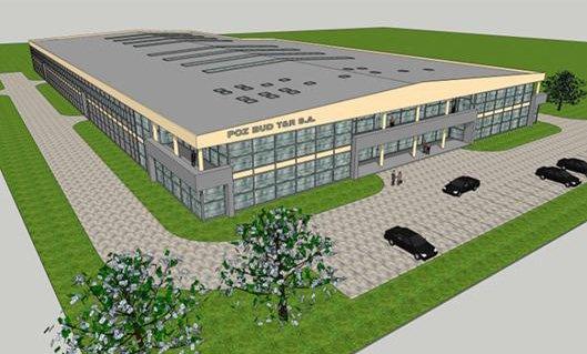 Wizualizacja fabryki POZBUD T&R w Słonawach