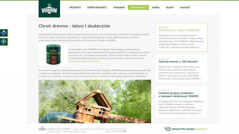 Nowa strona internetowa VIDARON