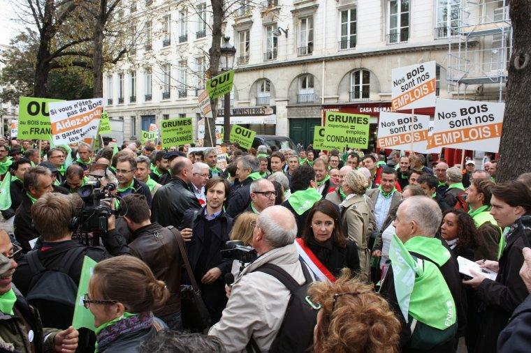 Protest tartaczników w Paryżu