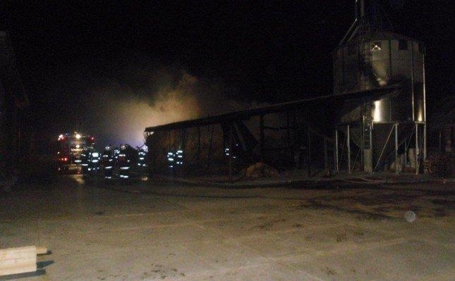 Pożar tartaku w Żarnowie Pierwszym k. Augustowa