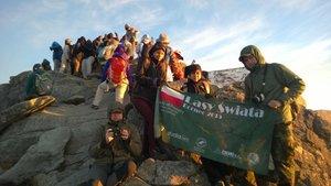 Pamiątkowe zdjęcie na szczycie Mt Kinabalu.