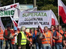 Protest pracodawców i pracowników leśnych w Szczecinie