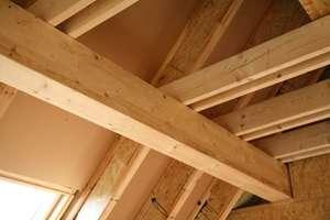 Konstrukcja dachu z użyciem<br>Kronopol I-Beam. Fot. Kronopol