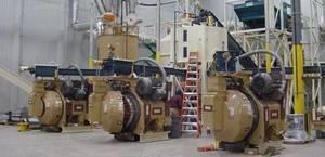 Linia produkcji pelletu w zakładzie w Schuyler