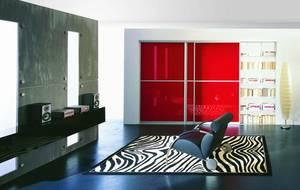 Profil aluminiowy – Lazuryt Kolor – Anoda naturalna, Wypełnienie – szyba lakierowana czerwona