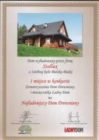 Najładniejszy dom z drewna wybudowała firma Stollux