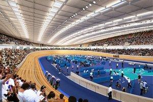 Olimpijski welodrom w Londynie. Być może tu będzie bity rekord prędkości drewnianego roweru