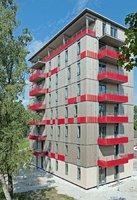Ośmiopiętrowy budynek o konstrukcji drewnianej