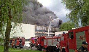 Pożar w fabryce Nowy Styl w Jaśle