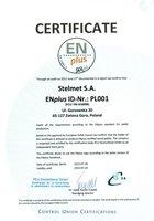 Certyfikat ENplus dla pelletu Olimp