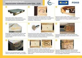 Karta oceny palet EPAL i EUR żółta - Uszkodzenia dopuszczalne
