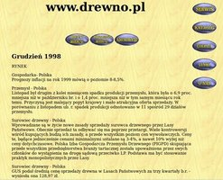 Portal Drewno.pl w 1998r.
