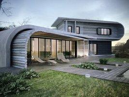 Domy wykonane z drewna mogą przybierać niebanalne, nowoczesne formy.