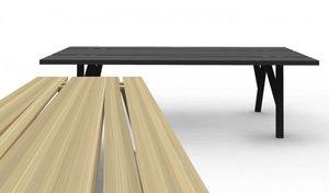 Studio projektowe Mike & Maaike z San Francisco stworzyło zachwycająco proste ławy Divis Bench wykonane z twardych gatunków drewna.
