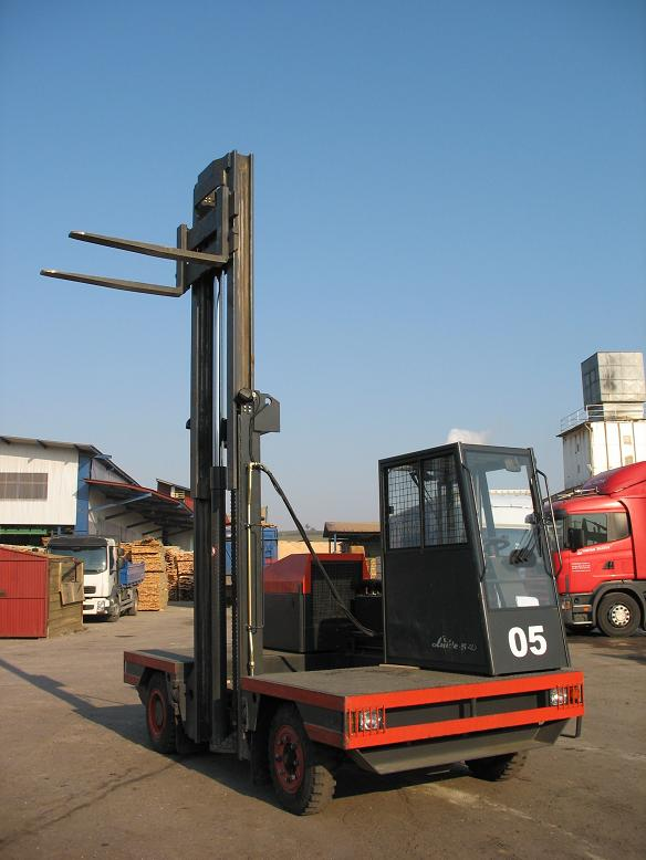 Linde, wózek widłowy boczny, udźwig 4 000 kg,