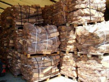 Drewno kominkowe na paletach