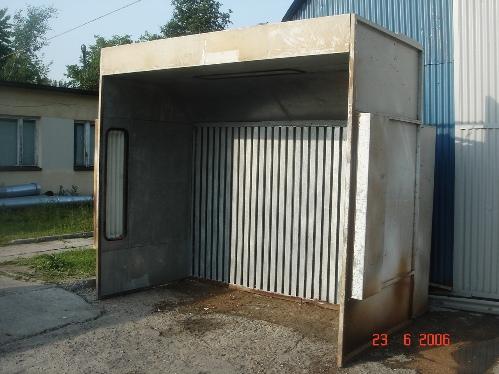 Ściana lakiernicza sucha+tor do transportu