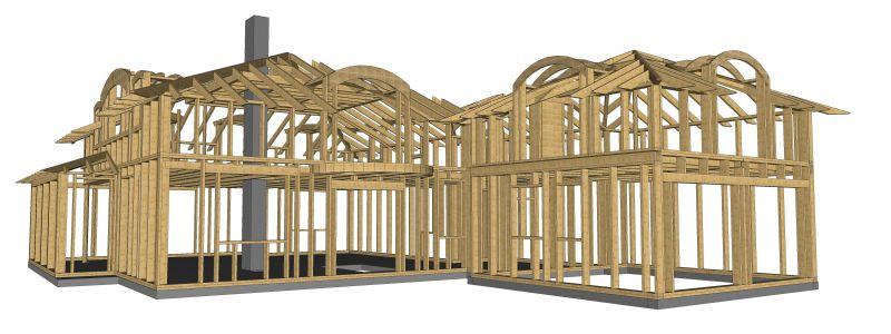 odwiązanie więźb dachowych i domów szkieletowych