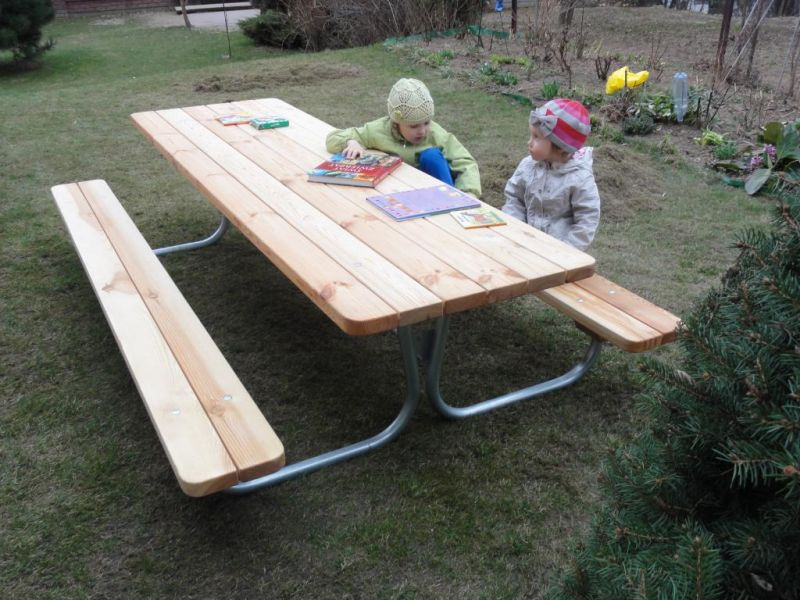 Zestaw ogrodowy dla dzieci i dorosłych - SKŁADANY